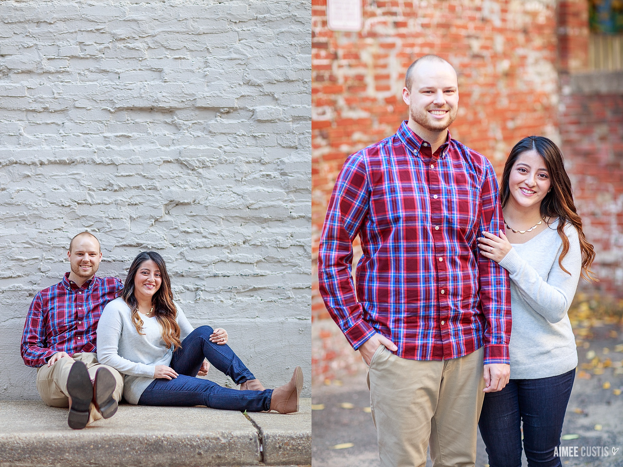 Washington DC Dupont Circle rowhouse engagement photos