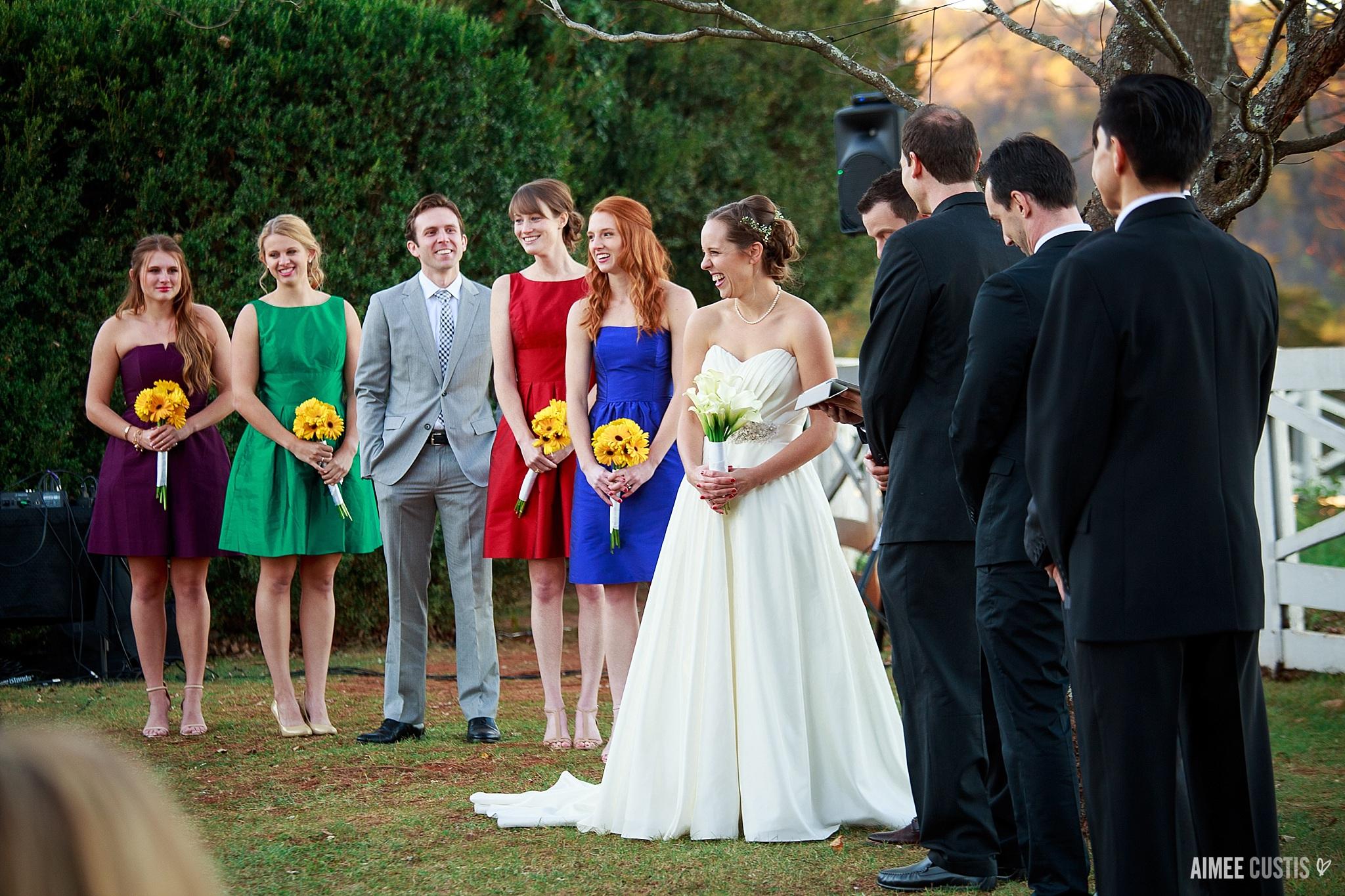colorful natural fine art Virginia estate wedding photography