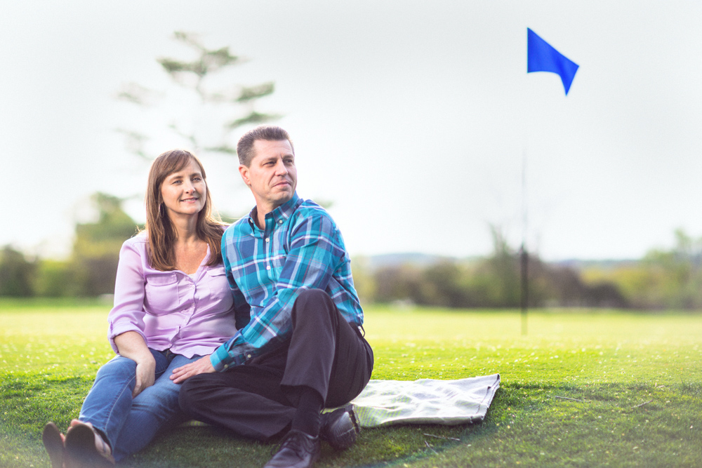 Cheri + Scott's relationship bloomed over Scott's passion for golf, so we woke up early and headed to the back 9 of the course where Scott most often plays, complete with clubs and golf carts!