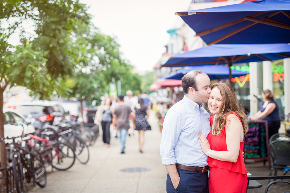 Laura + Aldo live in Adams Morgan, and love their neighborhood. It's bustling and lively, and we wouldn't have wanted it any other way during their session!