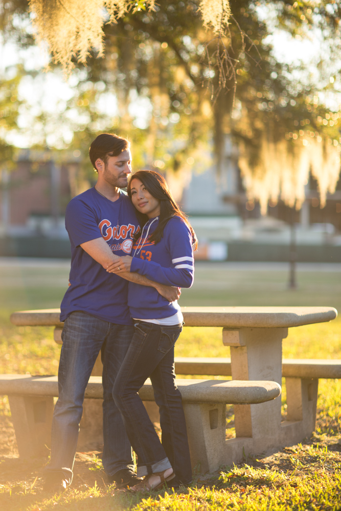 Adam + Cindi on campus at their alma mater, and dressed accordingly! And yes, you can fly me to Florida for your engagement session! :)