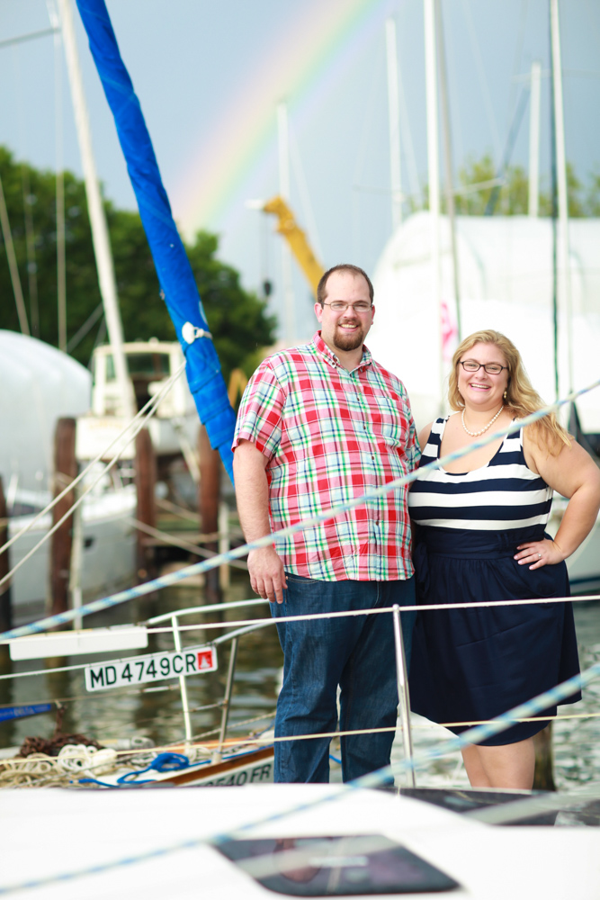 Marcelle + Ryan tied their jaunty nautical-inspired outfits to a session at the Annapolis waterfront!