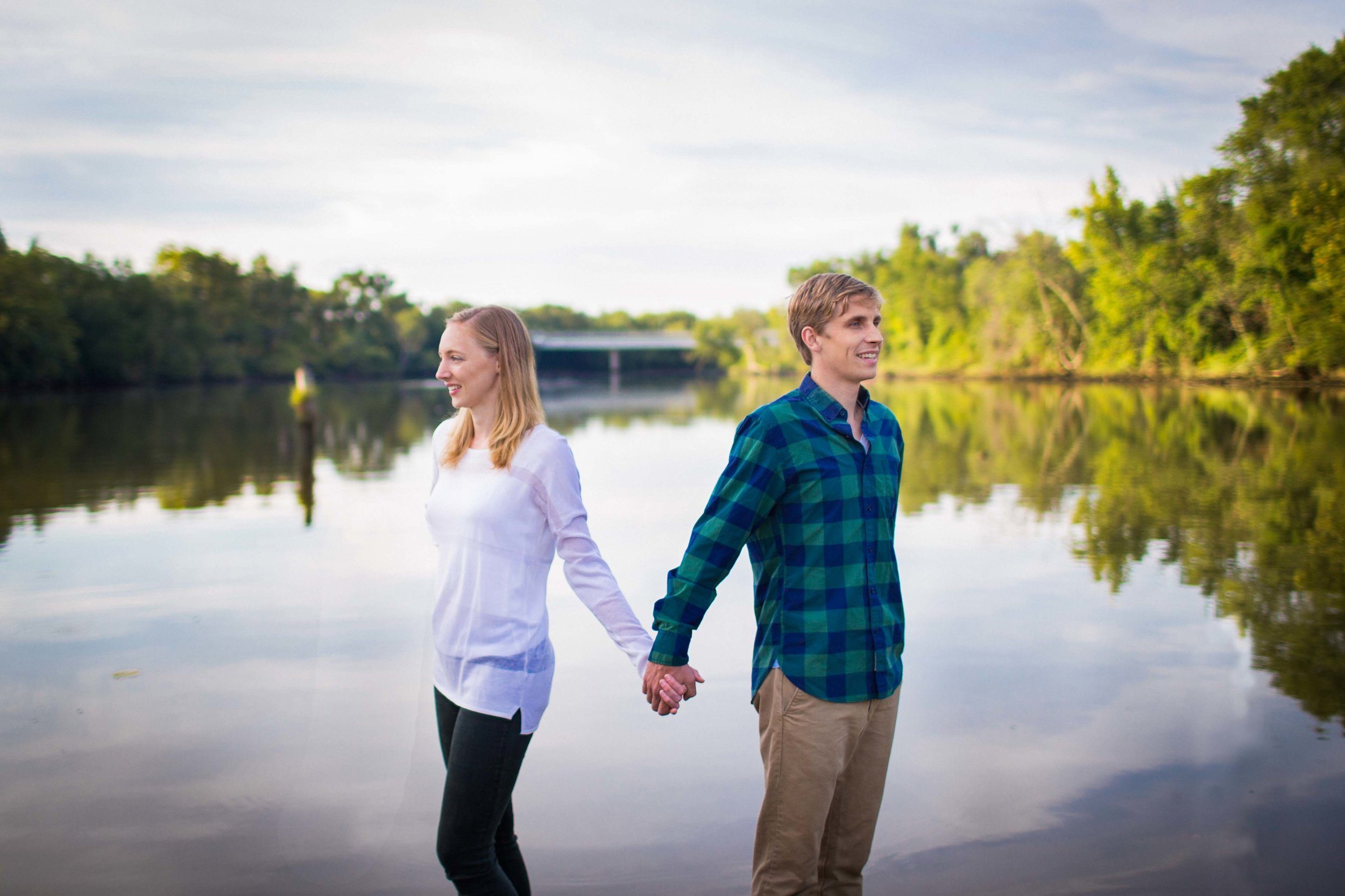 Luke + Hilary are runners, and run often at sunrise on Kingman Island. They love how peaceful it is.So we woke up early and headed to Kingman Island. I think the early wake up was worth it -- these photos capture Hilary + Luke's personalities and essence!