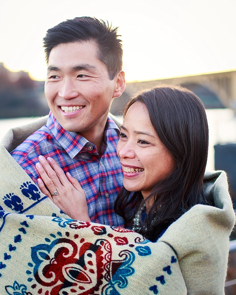 relaxed authentic engagement photography dc