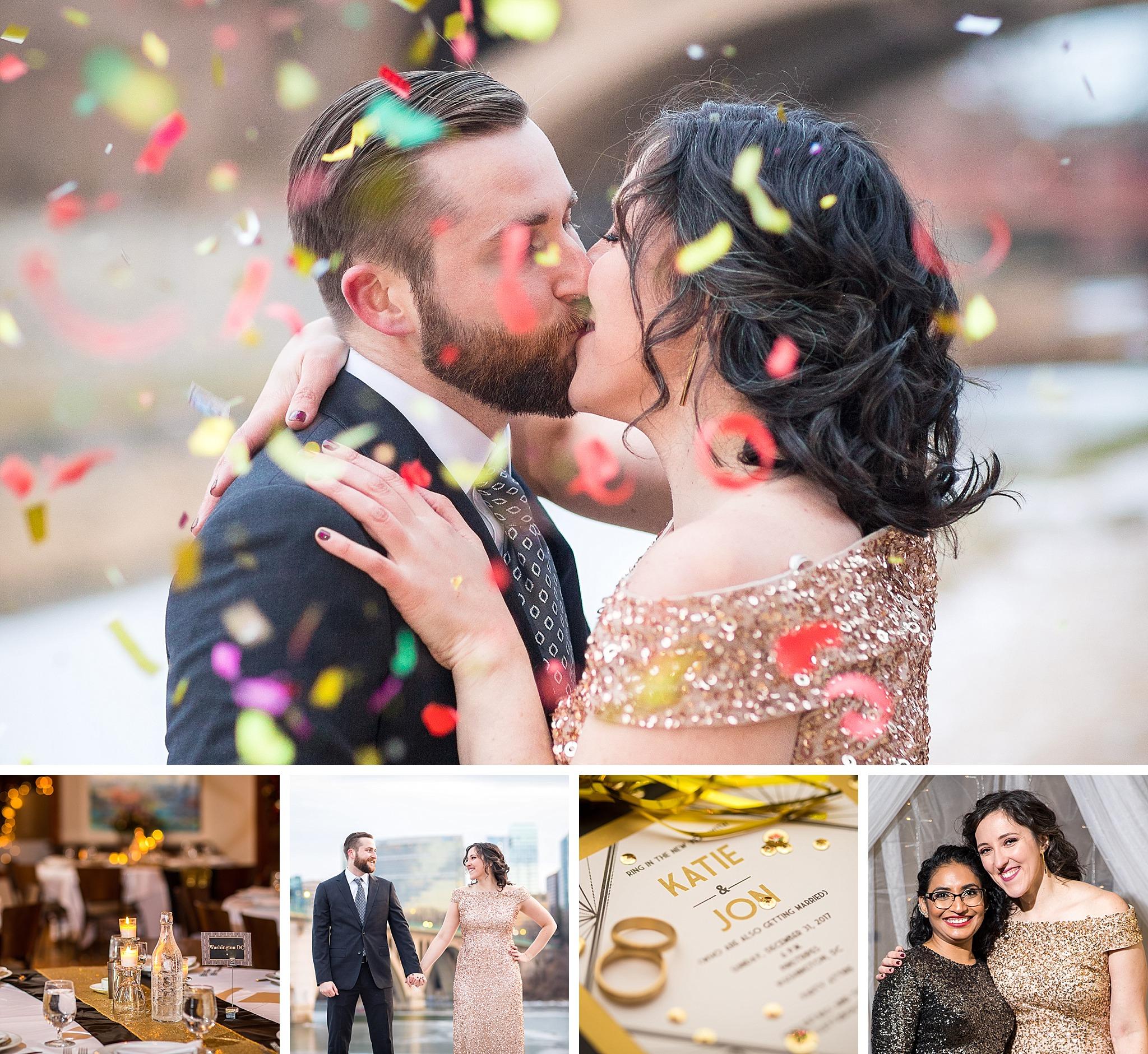 Pinstripes Georgetown NYE wedding photography
