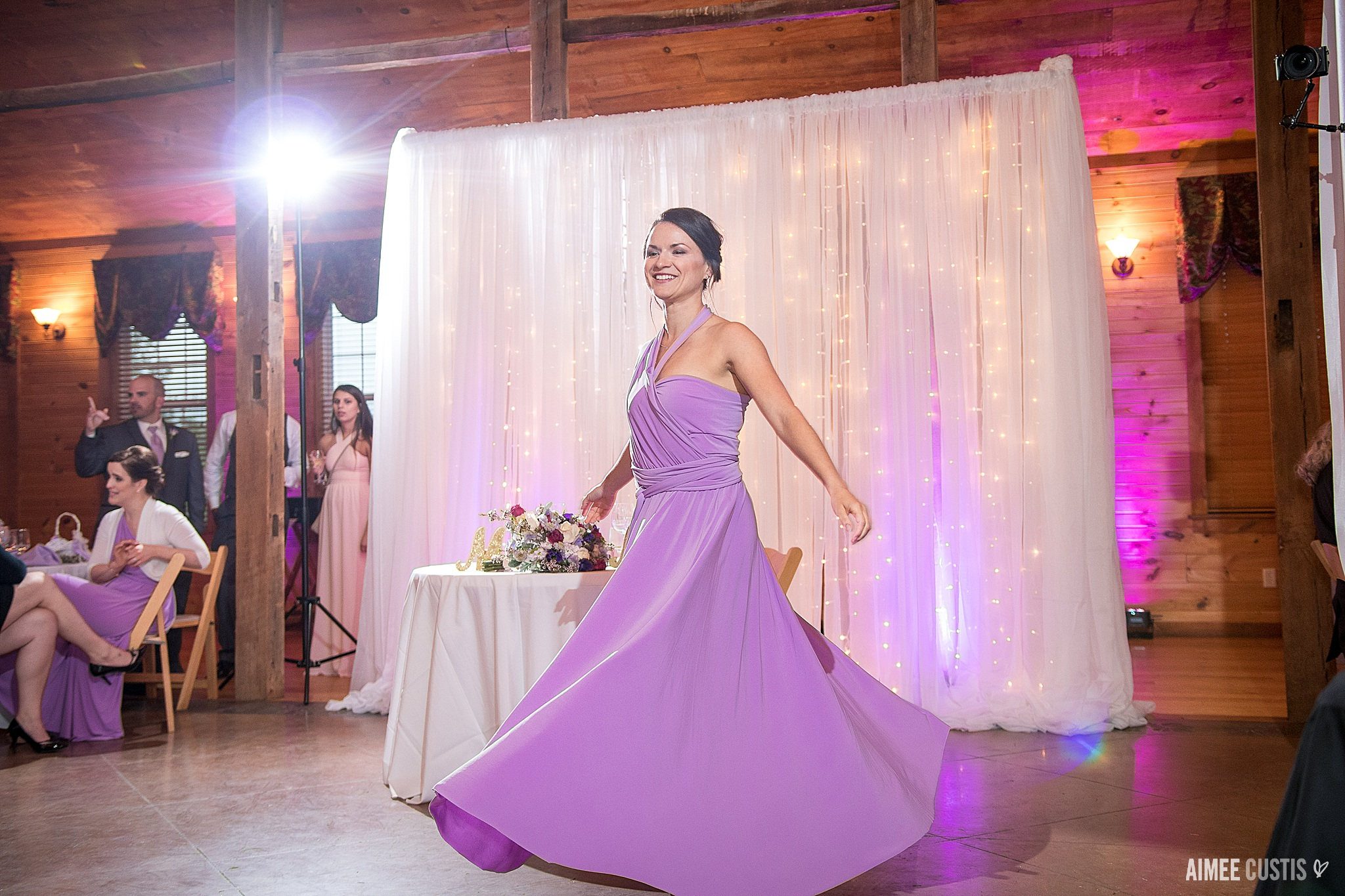 When your bridesmaid dress is this great for twirling? You twirl!