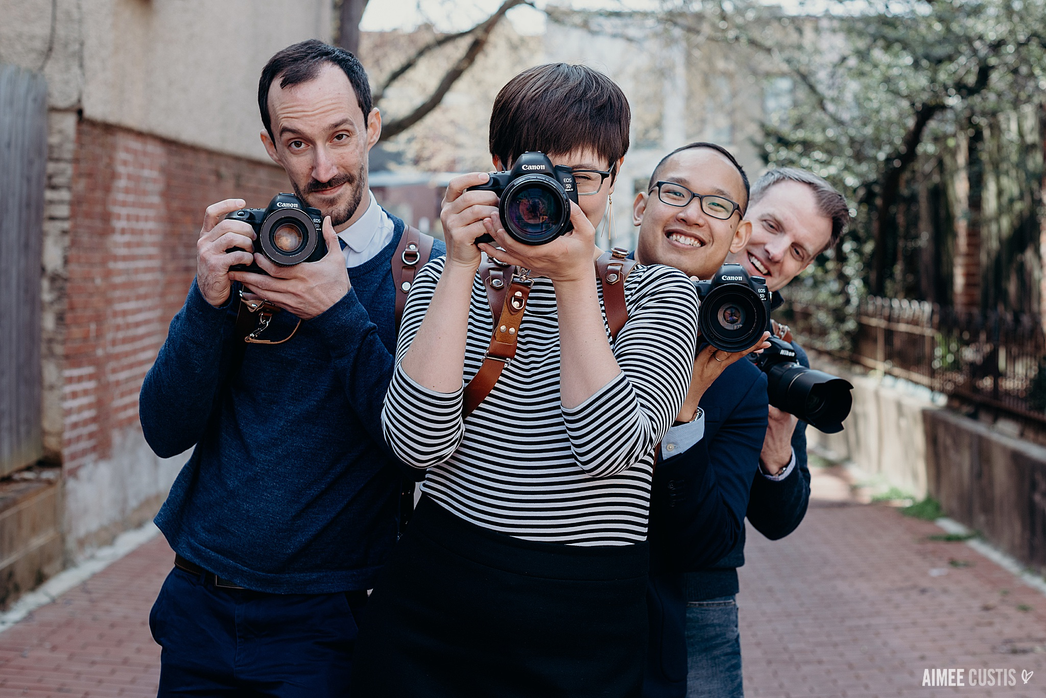Another crazy thing: I taught my first workshop this spring! The whole team (plus some other great photographers) came out. And in between sessions, we had a bit of fun. Behind every strong woman is… three incredibly goofy-yet-talented men?