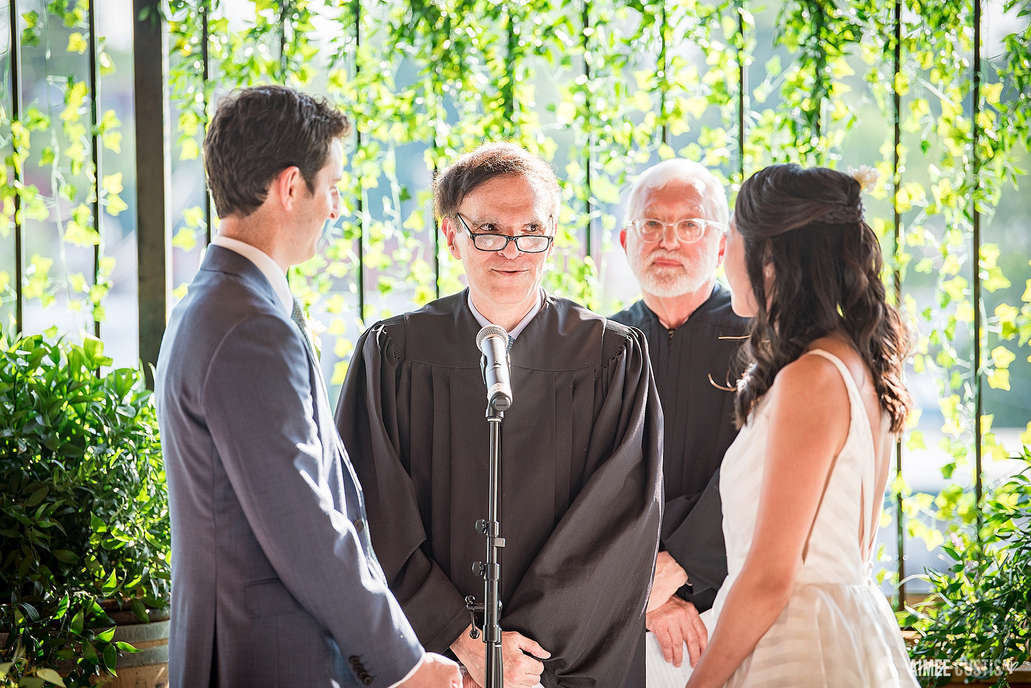 Like when not one, but TWO(!) of the judges the groom had clerked for officiated!