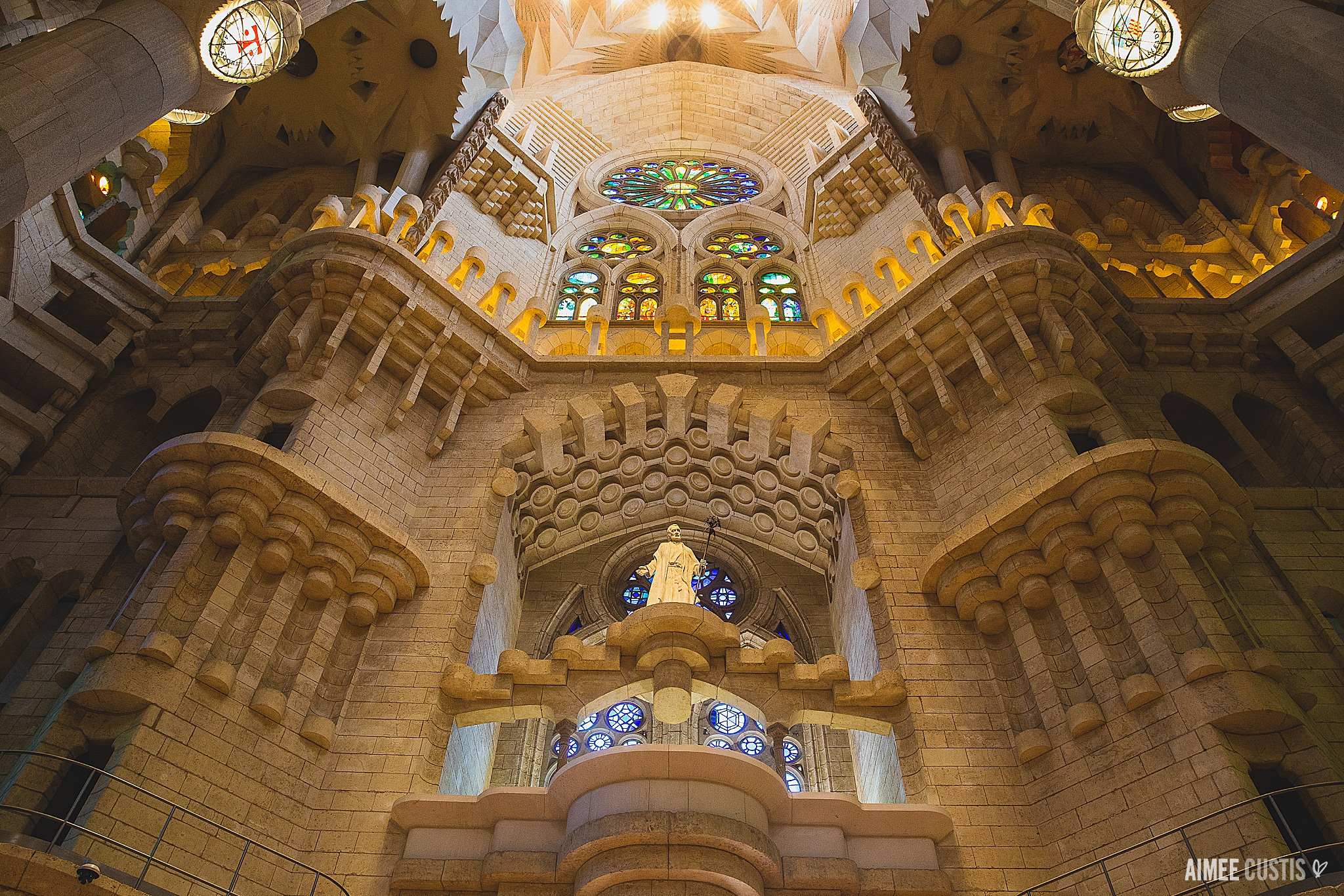 Some of the more conventional interiors of the Sagrada Familia. I didn't have the right lens with me to do the main interior space justice, in my opinion!