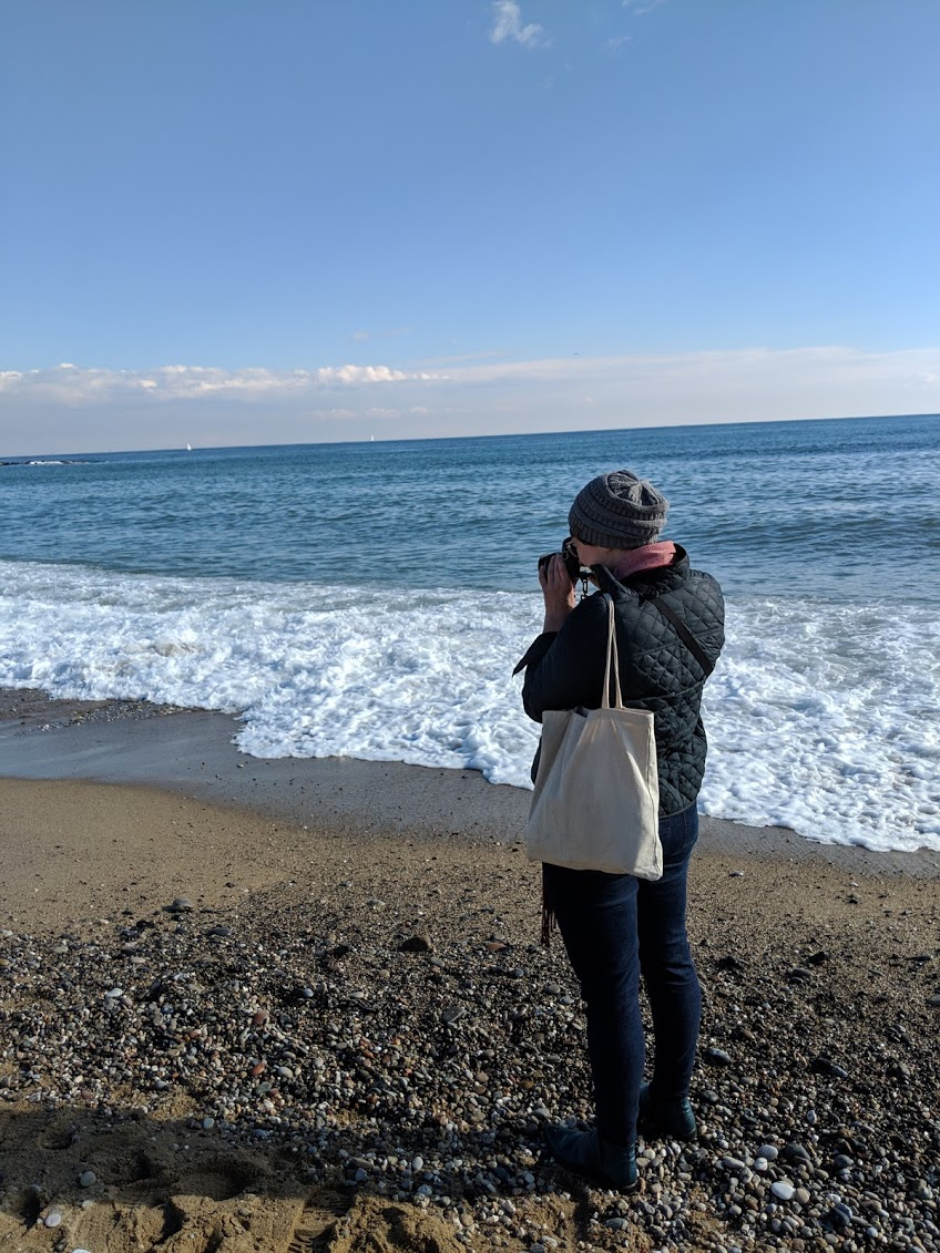 Before we headed up to the aerial tram, we stopped by the beach, so I could touch the Mediterranean (first time I'd seen it!)