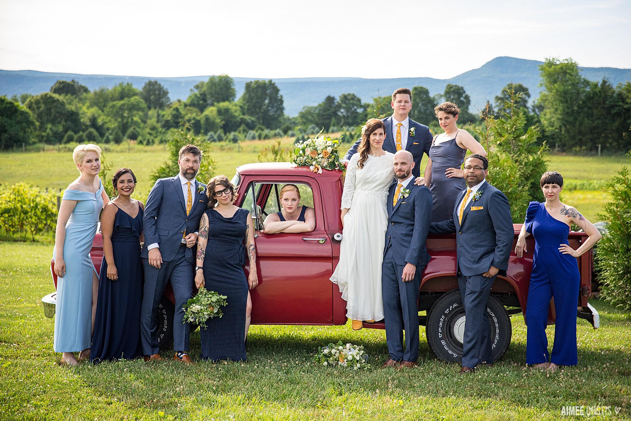 Southern wedding at Faithbrooke Barn and Vineyards Luray Virginia