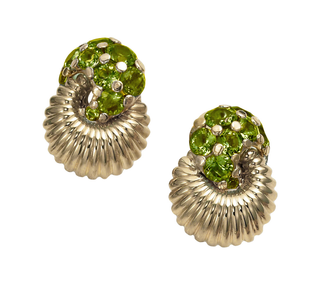 Swing Earrings in Peridot
