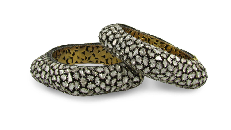 Indian Rose Cut Diamond Bangle Bracelet