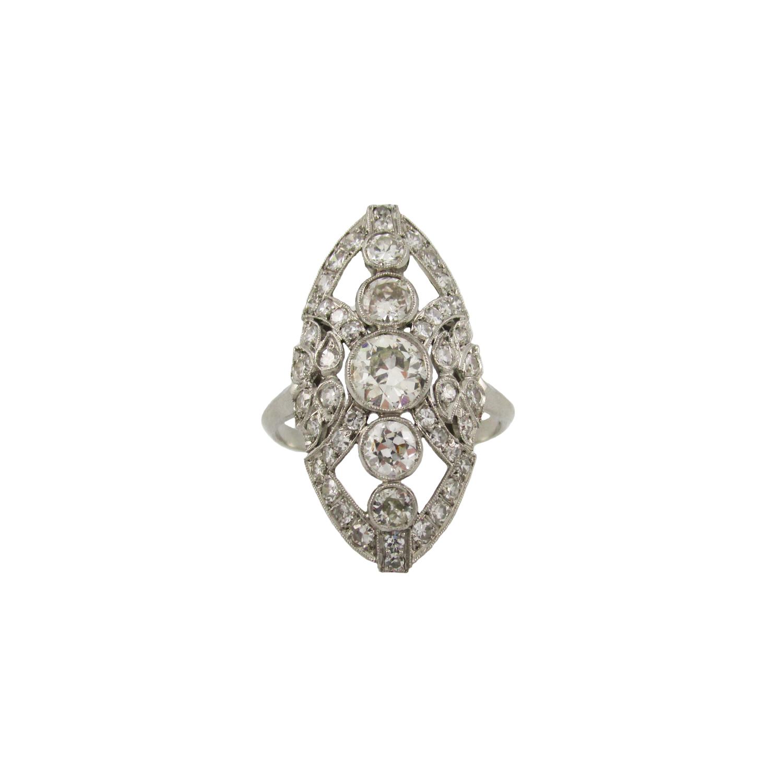 Edwardian Navette Ring