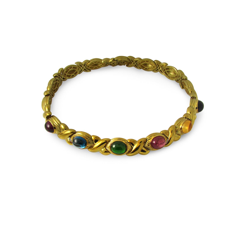 Cabochon Semi-Precious Stone Necklace