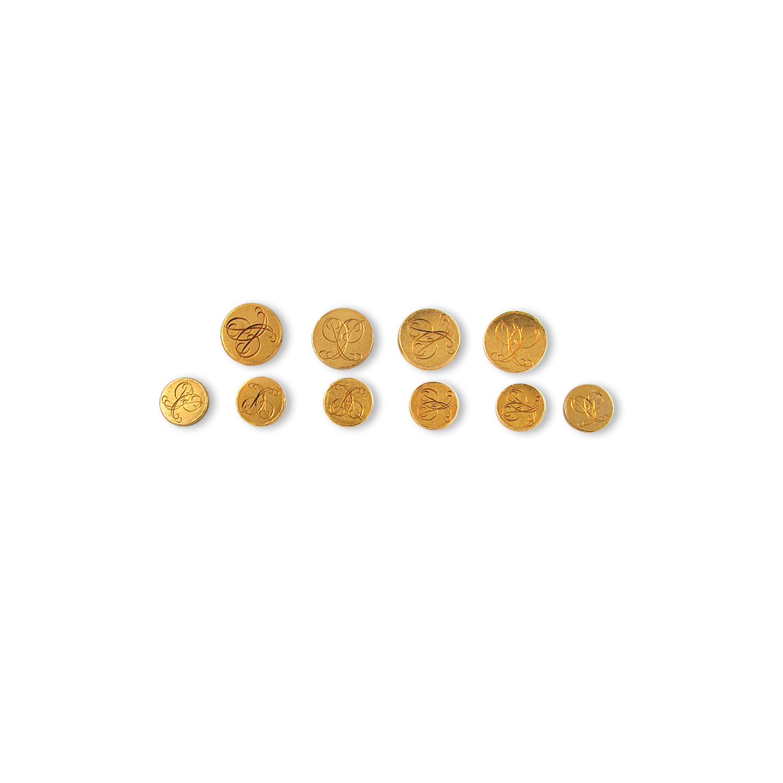 Bulgari Gold Buttons