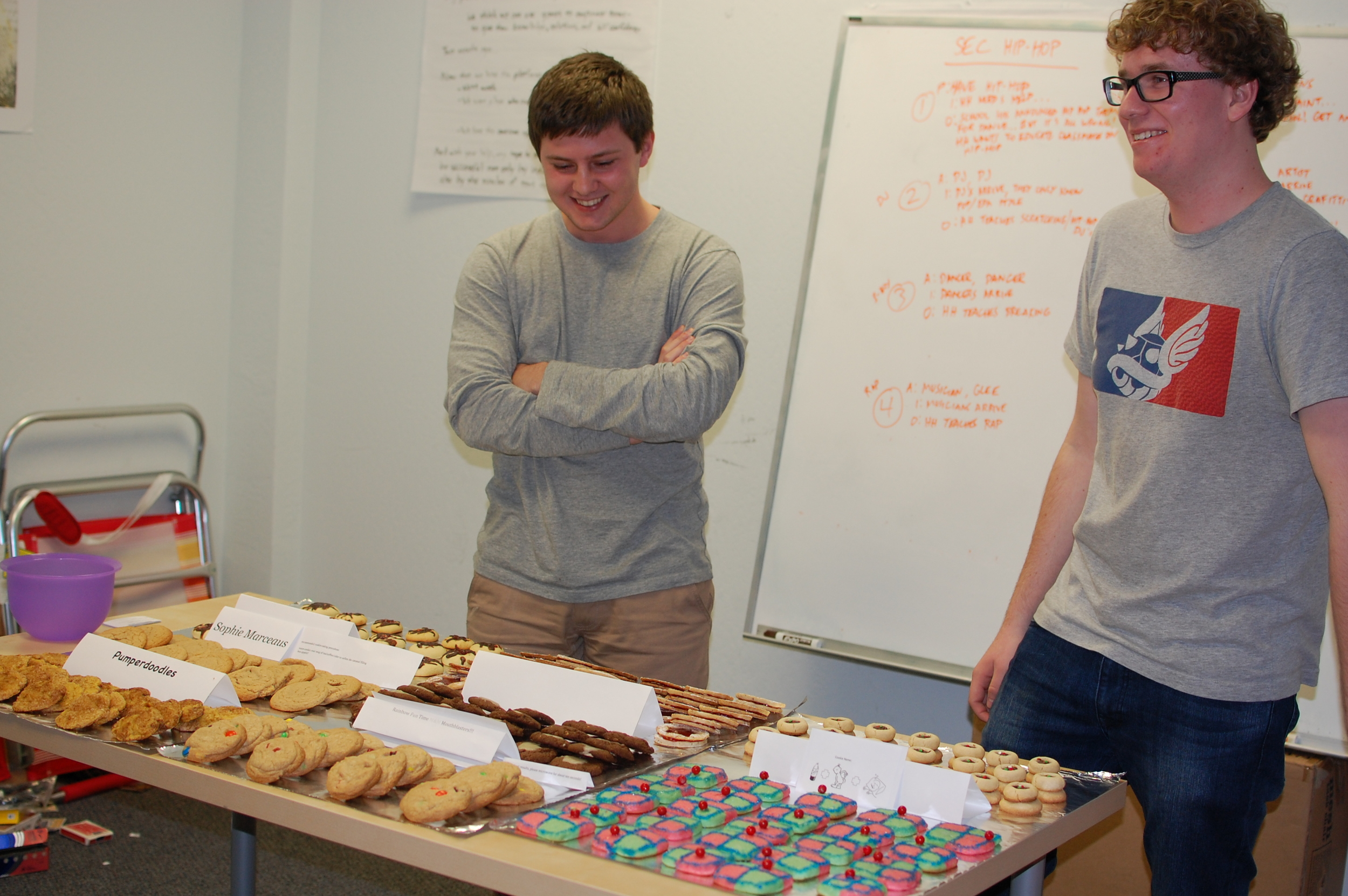 "Pixelberry Interns prepare the candidates for ""Best Cookie"" and try to resist the temptation to eat them."