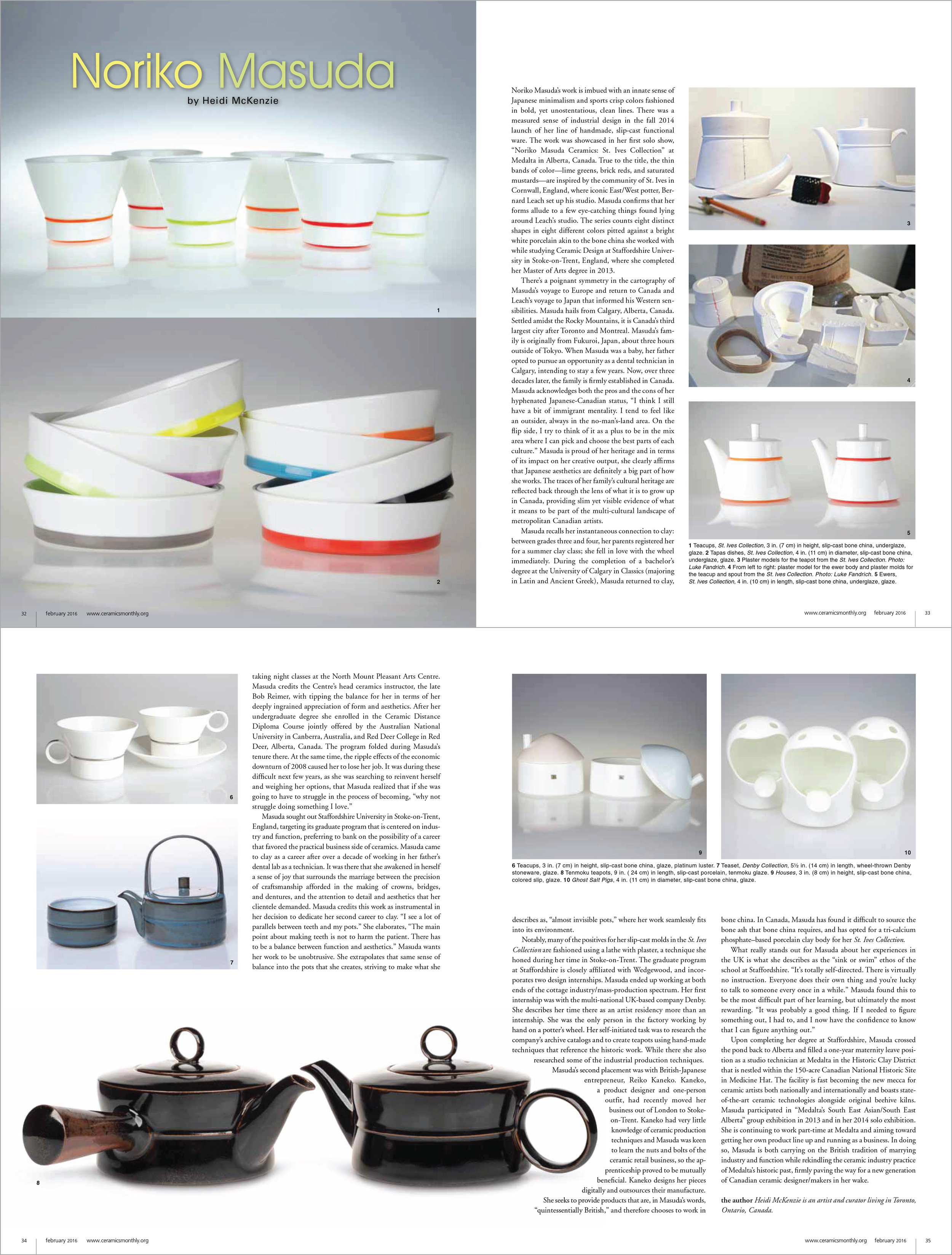 Originally published in February 2016 issue of Ceramics Monthly, pages 32-35.  http://www.ceramicsmonthly.org  . Copyright, The American Ceramic Society. Reprinted with permission.