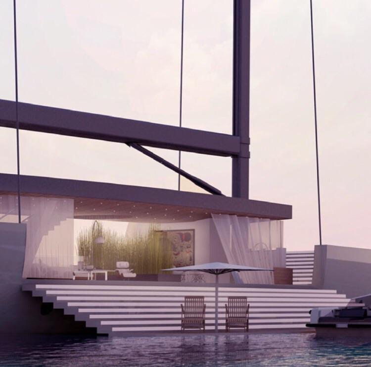 Folding sea terrace