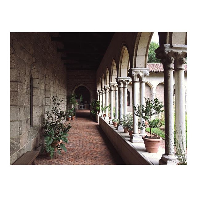 The loggia surrounding the fragrant herbal gardens in the Bonnefont inspired Cloister.