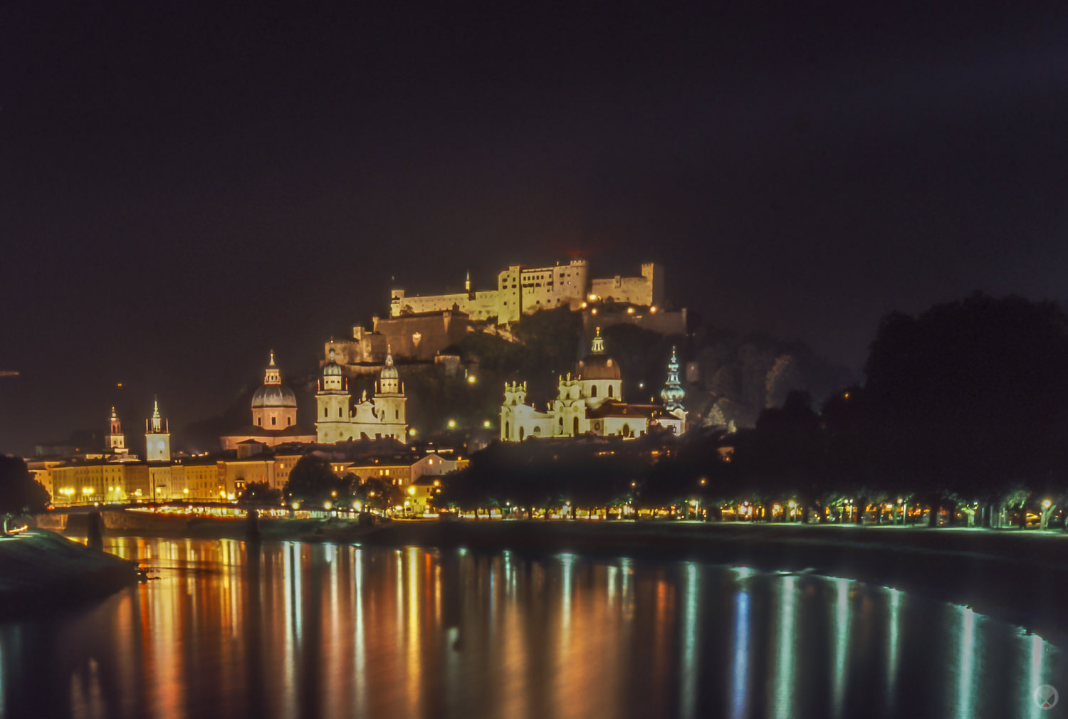 Salzburg at night.