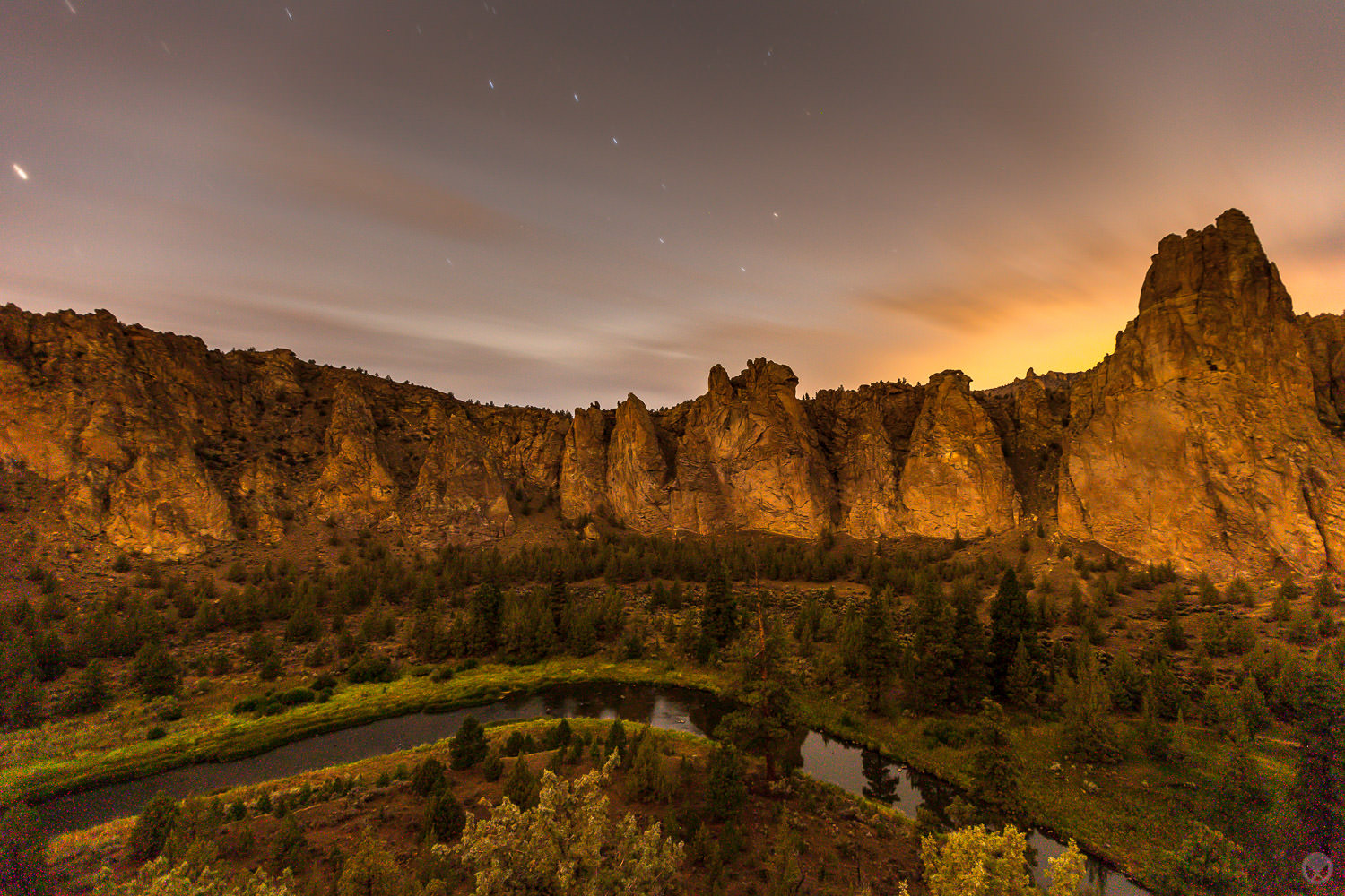 The Big Dipper over Smith Rock State Park & the Crooked River.