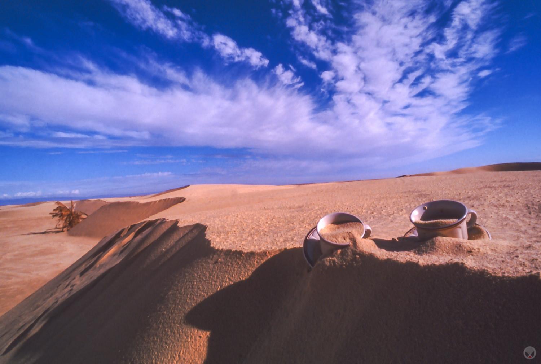 """Tea In The Sahara,"" 2000 October 27, near Mos Espa and Onk Jamel, Chott Chtihatt Sghat, Tunisia"