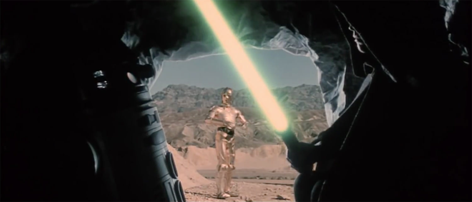 INT - TATOOINE - WASTELAND CAVE - DAY