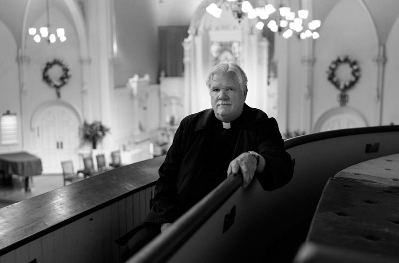 Night Minister Lyle Beckman in St. Mark's Church, San Francisco, Photo © James Hosking