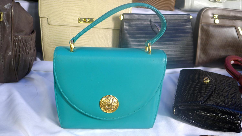 A teal Valentino bag