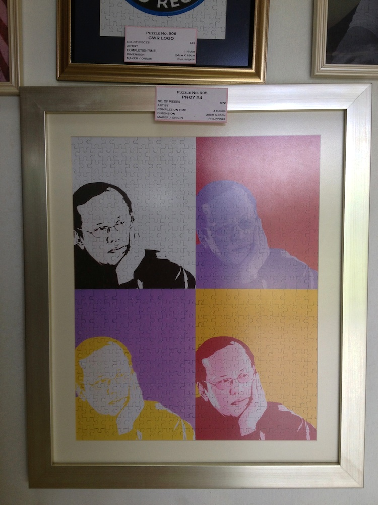 I like this pop art puzzle that was customized for President Noynoy.