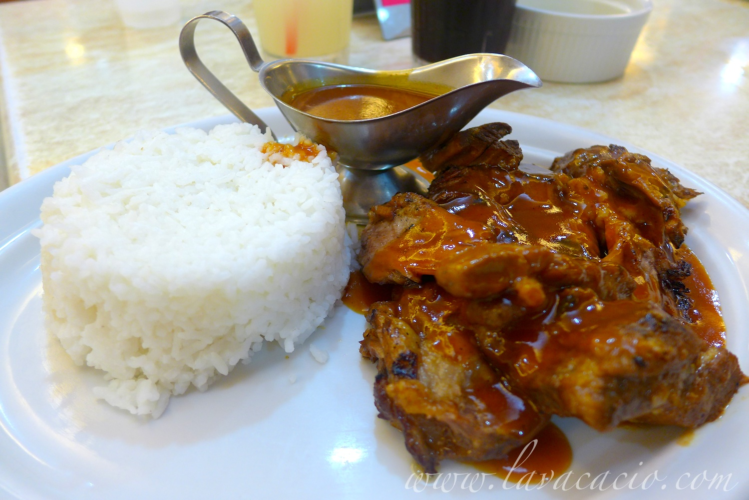 Combo 8 BBQ Pork Ribs without the Java Rice (Php 235)