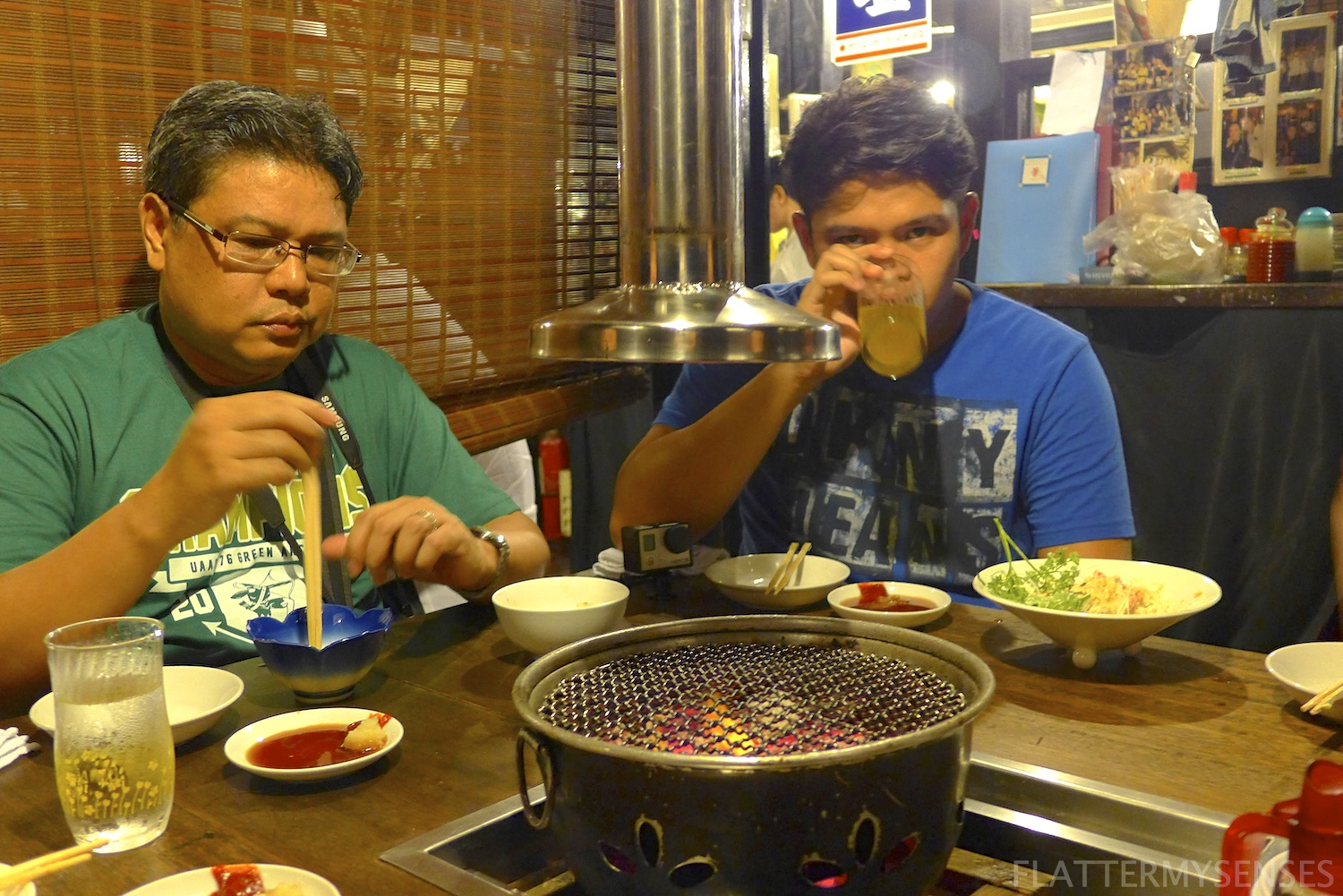 Prepping up our grill for some Yakiniku action!