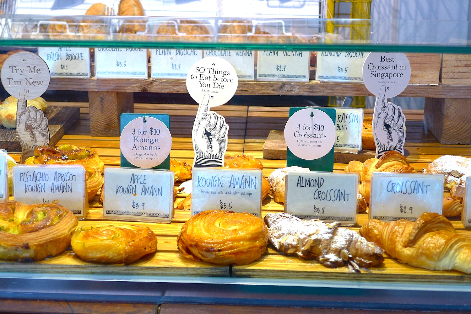 Wide and nice selection of Croissants, Kouign Amann and other breads.