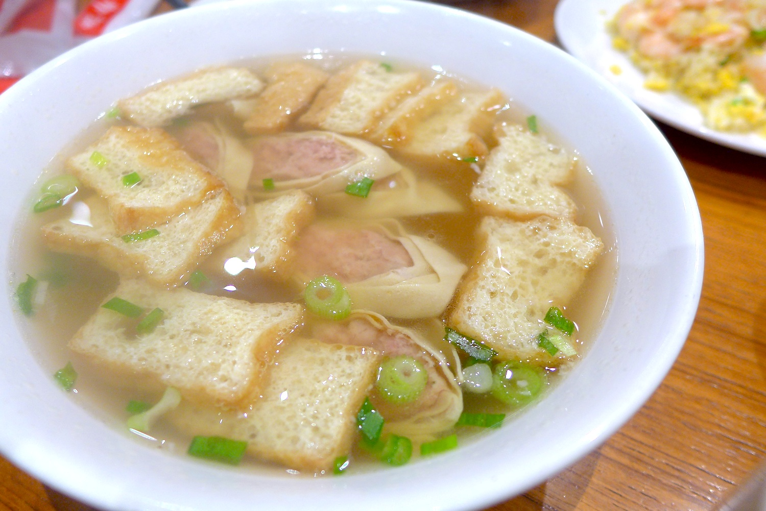 Vermicelli Soup with Deep-fried Beancurd & Minced Meat Rolls (S$ 9.80)