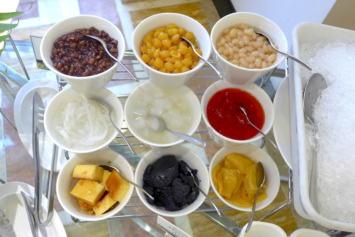 Half of the gazillion toppings you can put into your Halo-halo.