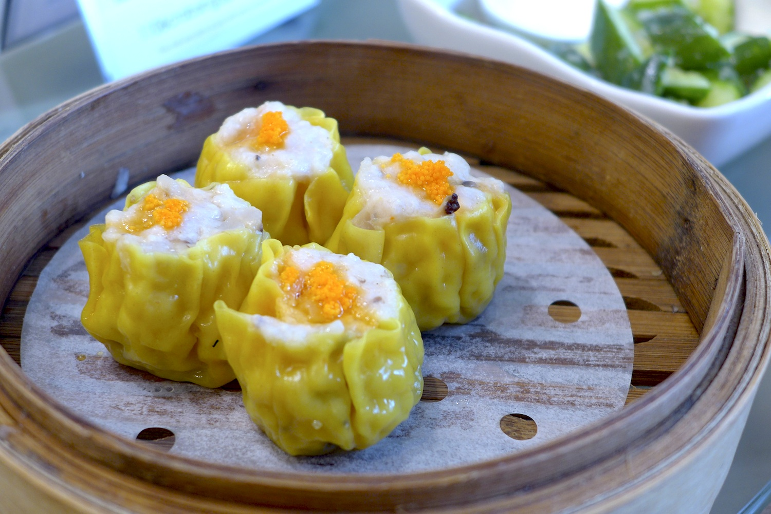 "Steamed Pork & Shrimp Dumpling with Crab Roe ""Siew Mai"""