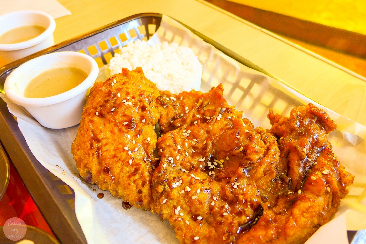 BBQ Large Fried Chicken(Php 125) + Php 35 for the rice & drink