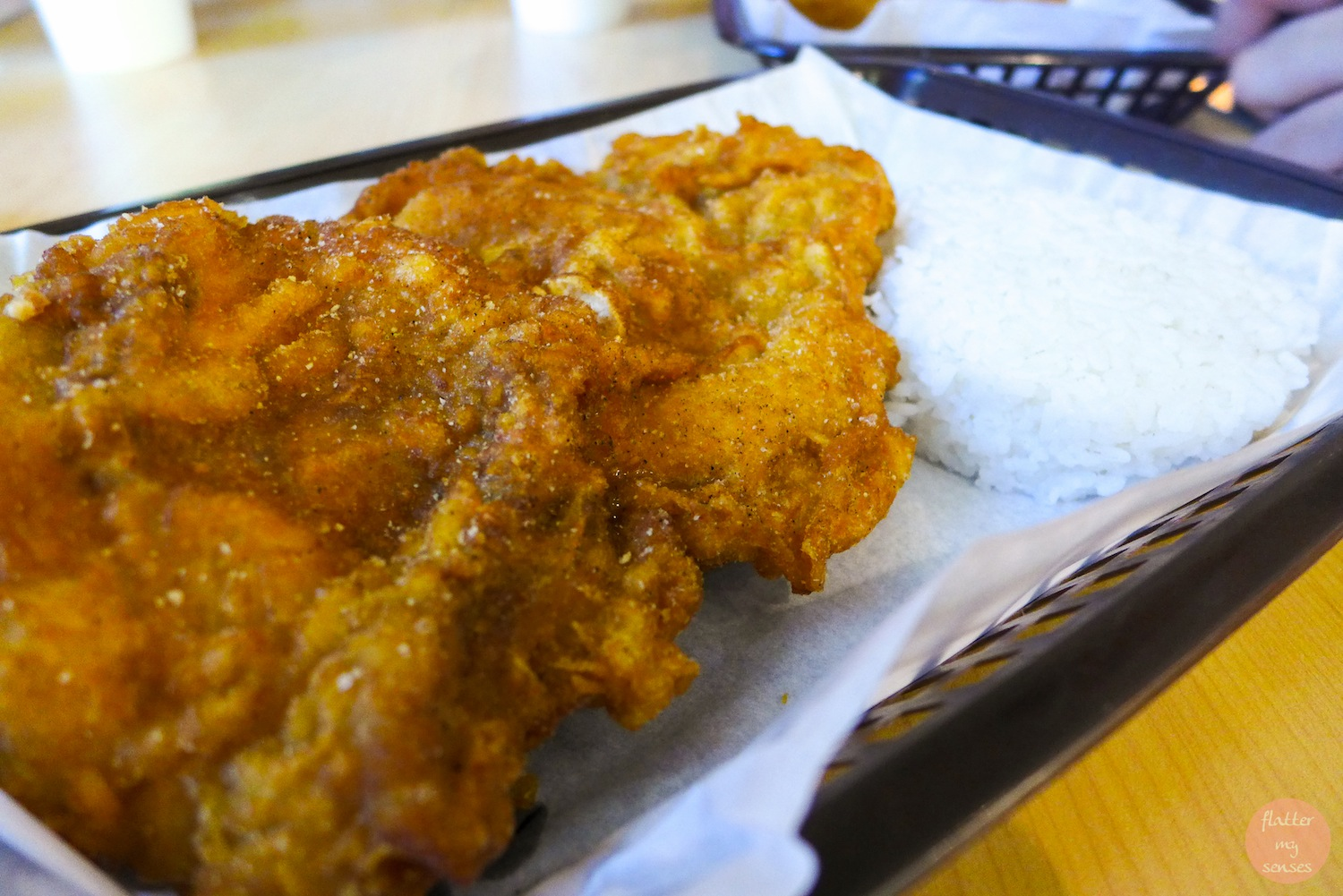 Original Large Fried Chicken (Php 110) + Php 35 for the rice & drink