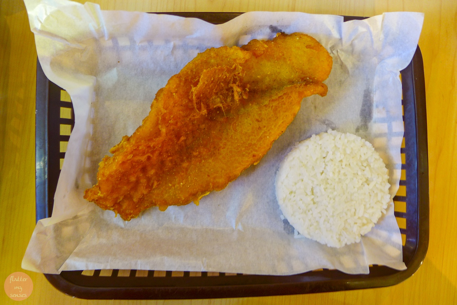 Large Crispy Fish (Php 110) + Php 35 for the rice and drink
