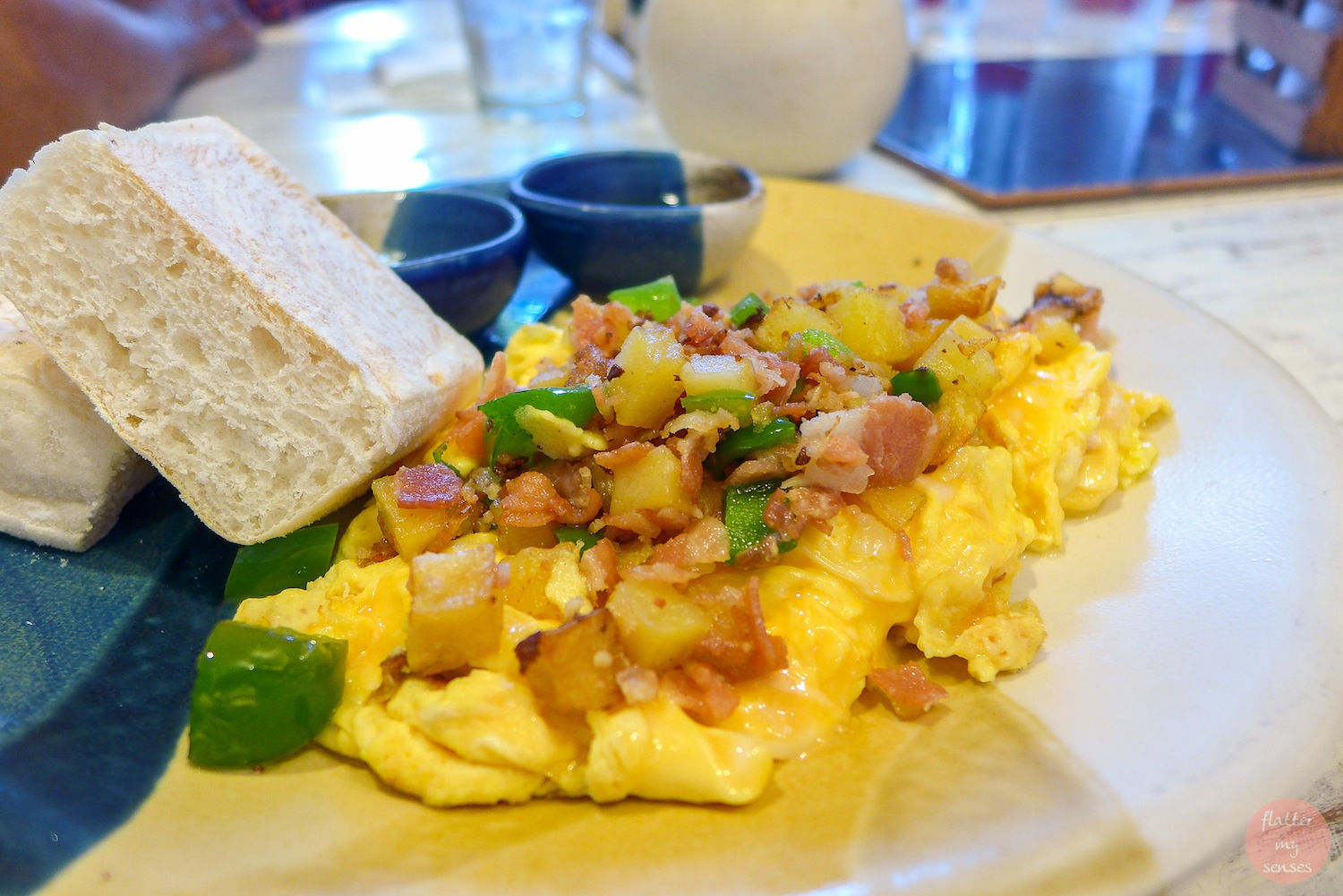 Country Omelette - Bacon, Potato, Cheese and Leeks (Php 220)