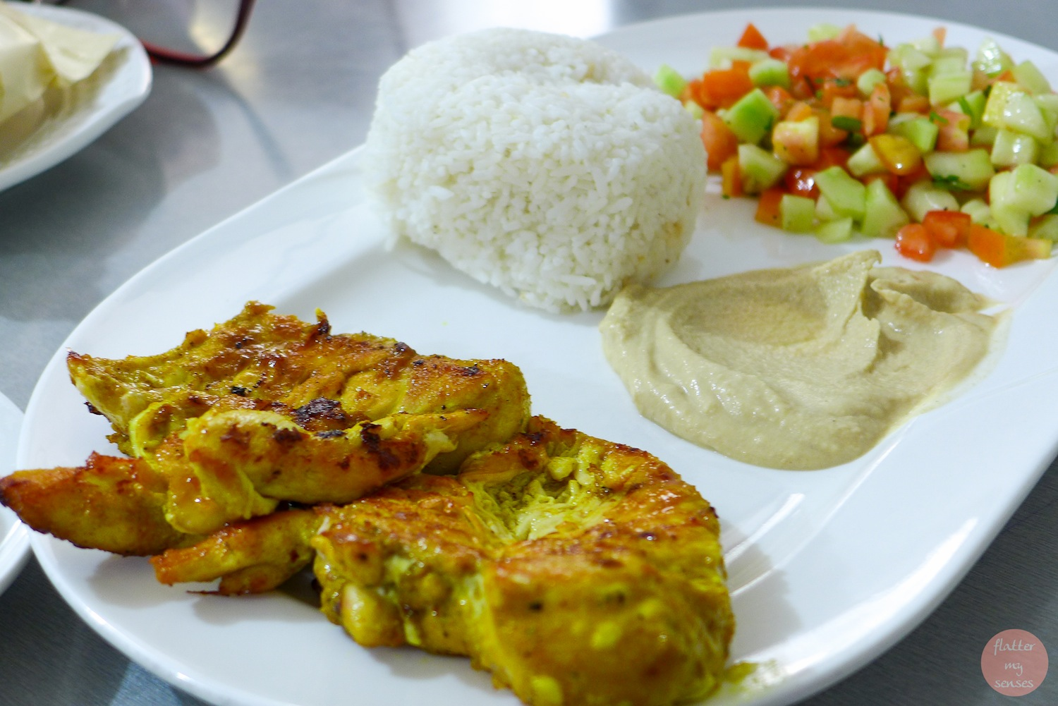 Chicken Breast on the Grill (Php 280). Again, you can have this with mashed potato, french fries or inside a pita.