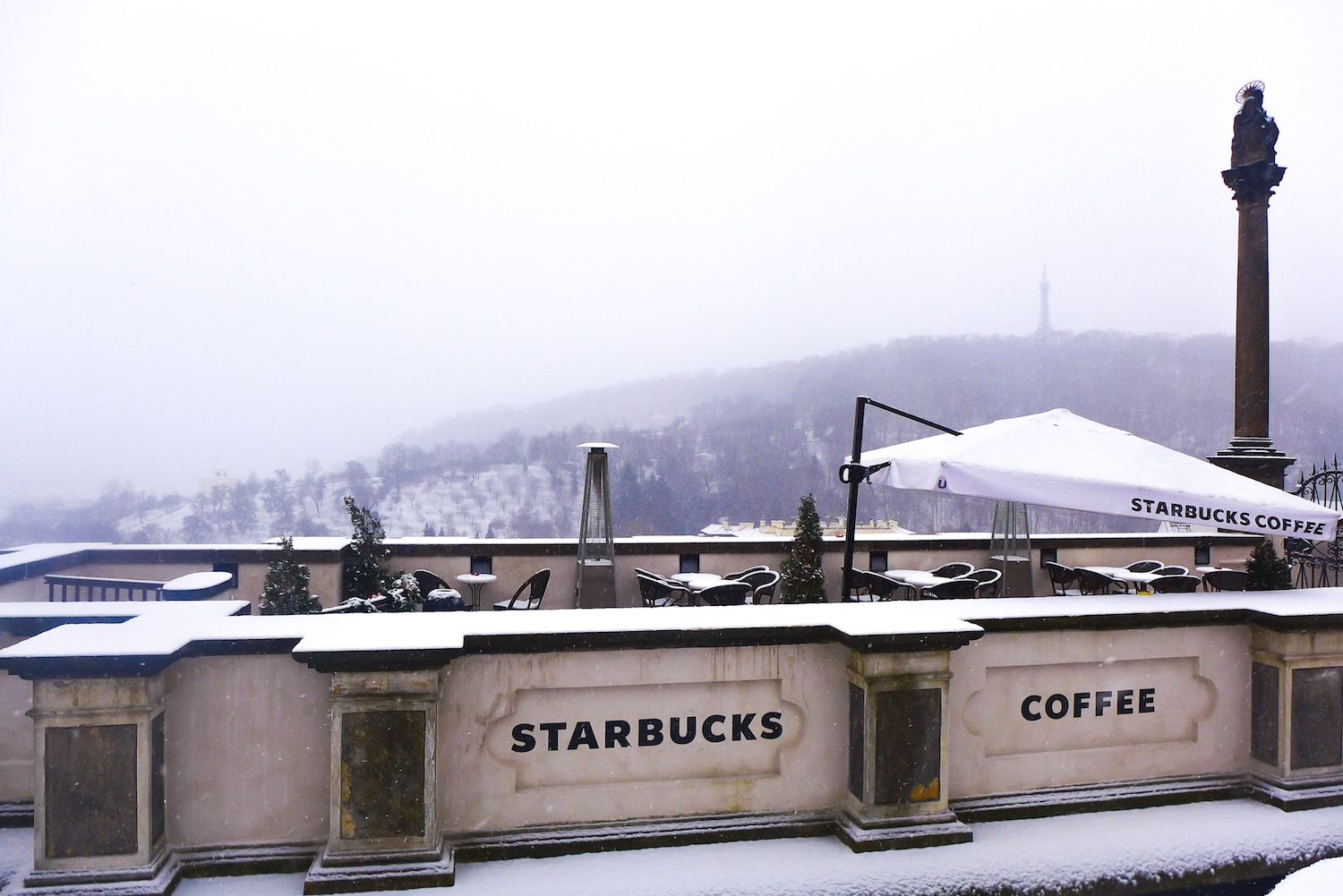 How I am using a lot of my mind on imagining how lovely would it be to sit here for a cup of coffee while enjoying the sight of the Lesser Town from afar. Definitely a good thing to do during the summer!