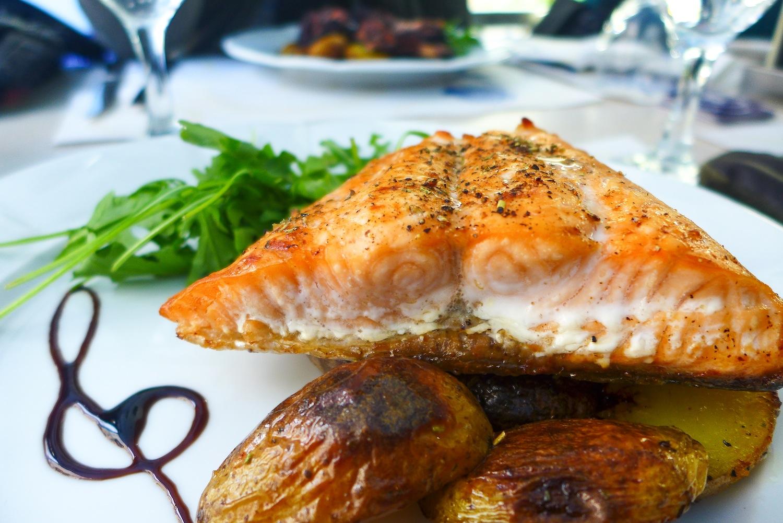Grilled Steak Z Lososa (CZK 150). Grilled Salmon