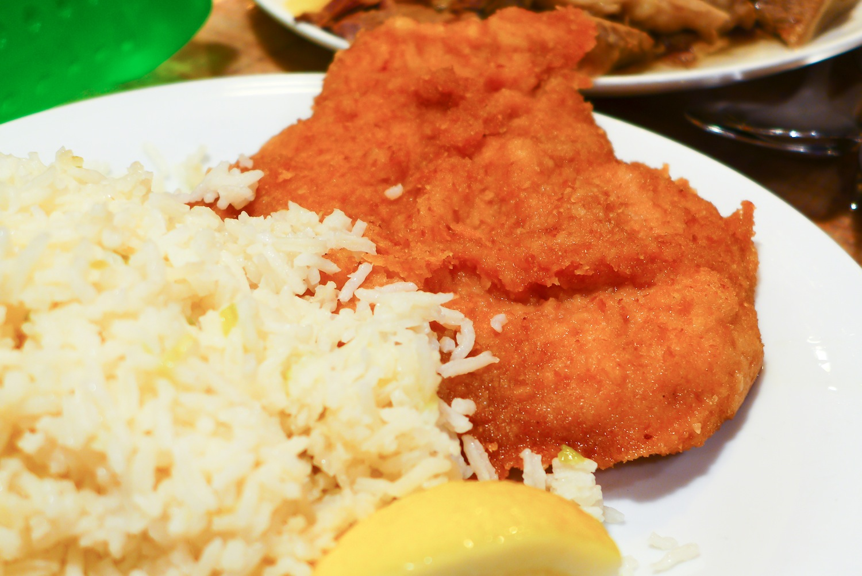 Schnitzel with Rice
