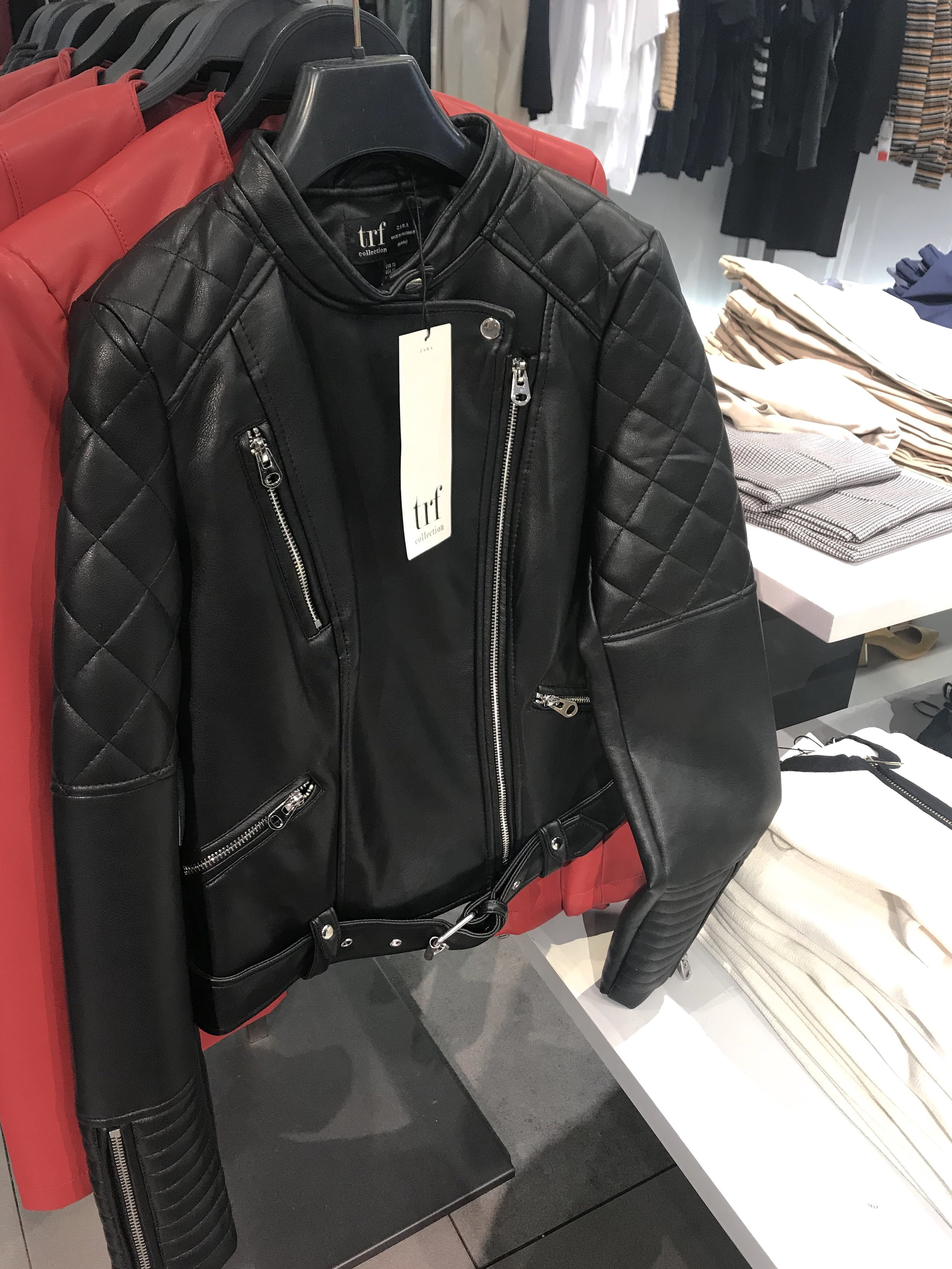 Ah! This leather biker jacket I almost bought but it is just too bulky for me.
