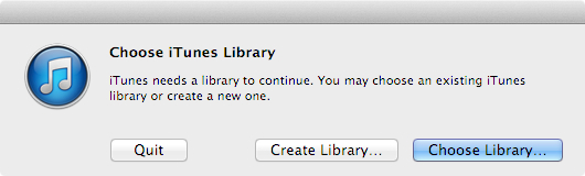 After clicking OKAY, quit so you can troubleshoot your inaccessible library without creating a new library.