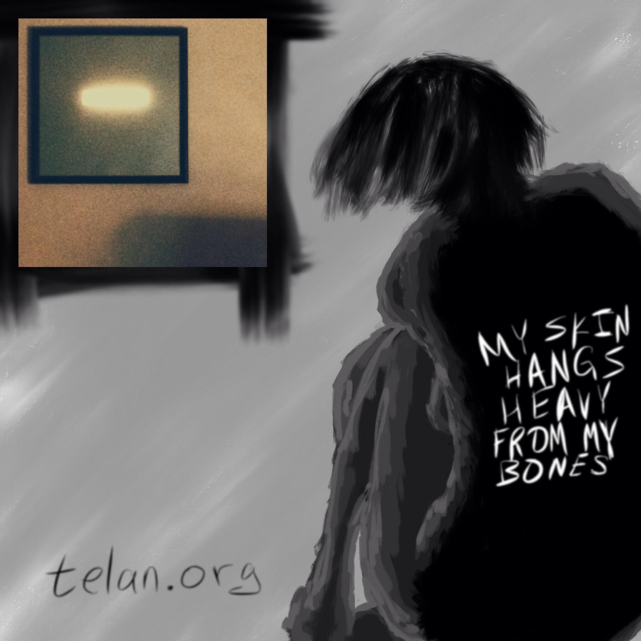 My skin hangs heavy from my bones.
