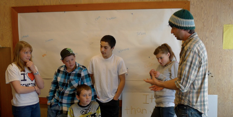 Throwback - an image from our very first workshop, three years ago! Jason (the young man fourth from the left, who is BIG now!) expressed to the KIDmob team at a recent workshop that working with us over the years has changed his life and his perception of what he can become. Talk about inspirational.
