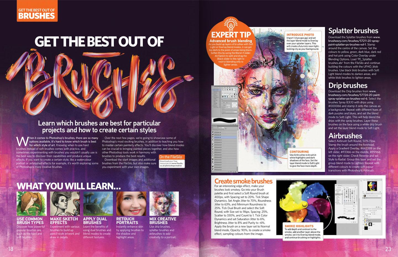 Photoshop Creative Magazine issue 147 spread.